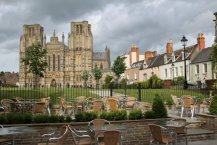 Wells Cathedral, from Swan Hotel, Wells
