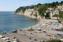 West beach, from Jubilee Gardens, Beer