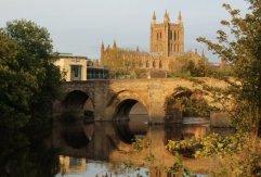 Wye Bridge and Hereford Cathedral, Hereford