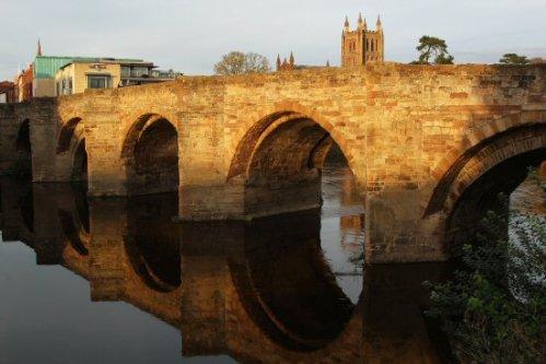 Wye Bridge over River Wye, Hereford