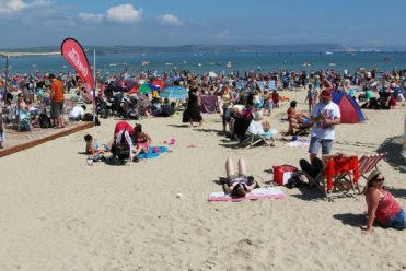 Beach. Weymouth and Portland Sailing, Olympic Games 2012