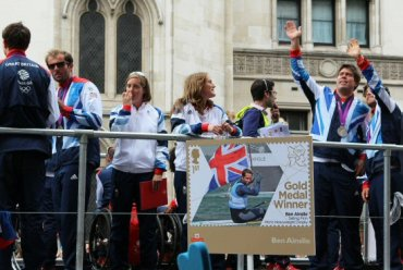 Ben Ainslie, Sailing float. Olympic and Paralympic Victory Parade 2012