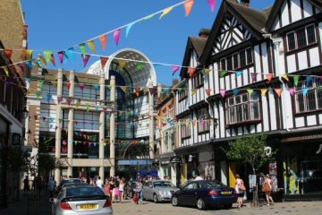 Bentall Centre and Church Street, Kingston upon Thames