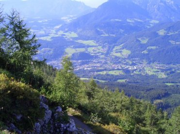 Berchtesgaden, from path down from the Eagle's Nest