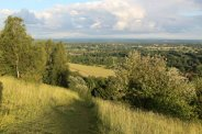Brockham, from footpath, Box Hill. Women's Olympic Road Cycling Road Race, 2012