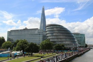City Hall and The Shard. London 2012 Olympic Games