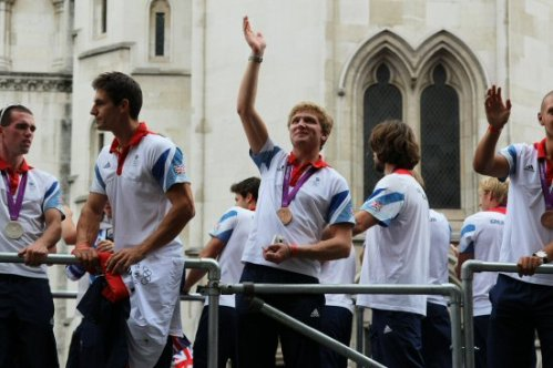 Constantine Louloudis, Rowing. Olympic and Paralympic Victory Parade 2012