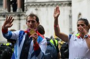 Ed McKeever, Canoeing. Olympic and Paralympic Victory Parade 2012