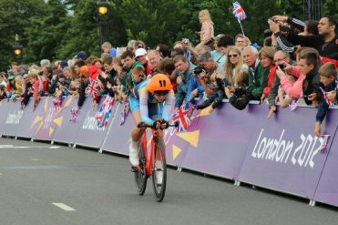 Emilia Fahlin, Sweden, Hampton Court. Olympic Road Cycling Time Trials, 2012