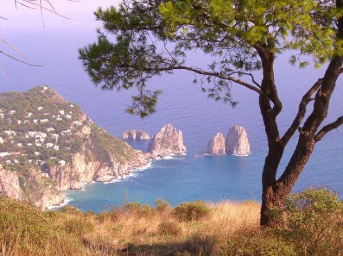 Faraglioni, from the Summit of Mount Solaro, Capri