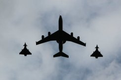 Flypast. Olympic and Paralympic Victory Parade 2012