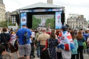 Live Screen, Trafalgar Square. Olympic and Paralympic Victory Parade 2012