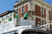 Lloyds TSB promotional vehicle. Olympic Torch Relay, Richmond 2012