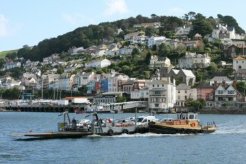 Lower Car Ferry, leaving Kingswear for Dartmouth