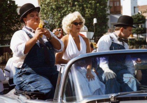 Marilyn Monroe and Laurel and Hardy lookalikes, Universal Studios, Florida
