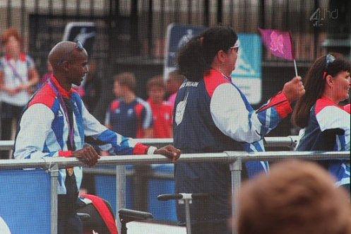 Mo Farah, Live Screen, Trafalgar Square. Olympic and Paralympic Victory Parade 2012