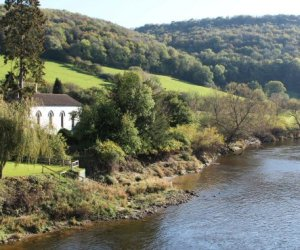 Moravian Church and River Wye, Brockweir