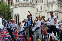 Naomi Riches and David Smith, Rowing. Olympic and Paralympic Victory Parade 2012