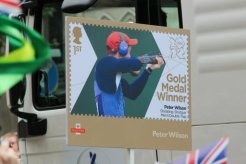 Peter Wilson, Shooting and Swimming float. Olympic and Paralympic Victory Parade 2012