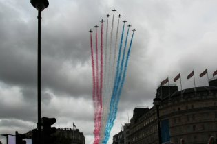 Red Arrows. Olympic and Paralympic Victory Parade 2012