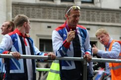 Richard Whitehead, T42 200m. Olympic and Paralympic Victory Parade 2012