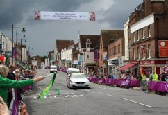 Safety car, Dorking. Women's Olympic Road Cycling Road Race, 2012