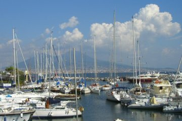 Santa Lucia Harbour and Vesuvius, Naples