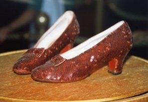 Shoes Judy Garland wore in The Wizard of Oz, MGM Studios, Disney World, Florida