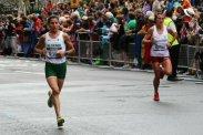 Souad Ait Salem, Algeria and Karolina Jarzynska, Poland. Women's Olympic Marathon, 2012