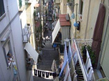 Street in Naples, from Corso Vittorio Emanuelle