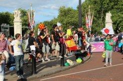 Tourists, Buckingham Palace, Men's 20K Race Walk. London 2012 Olympic Games
