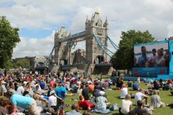 Tower Bridge and Live Site, Potters Fields. London 2012 Olympic Games