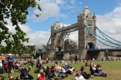 Tower Bridge and Potters Fields. London 2012 Olympic Games