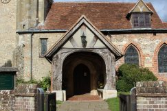 Entrance, St. John the Baptist Church, Little Missenden
