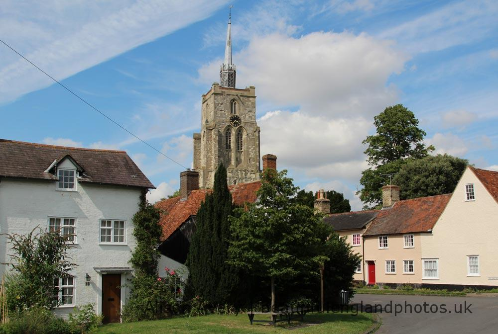 St. Mary's Church, from Ashwell Cottage Garden, Ashwell