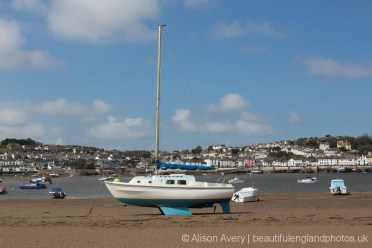 Appledore and yacht, Instow Beach, Instow