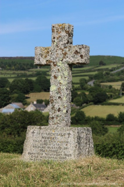 Grave of Eric Newbery, Vicar of St. Pancras Church 1948-1958, Widecombe-in-the-Moor