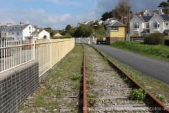 Railway track and Instow Signal Box, Bideford and Instow Railway, Instow