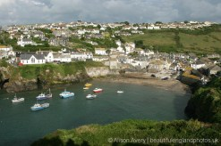 Harbour, from coast path to Lobber Point, Port Isaac