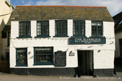 The Harbour Restaurant, now Outlaw's Fish Kitchen, Middle Street, Port Isaac