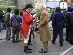 John Bull character, wedding of Prince Charles and Camilla Parker Bowles, Windsor. 9th April 2005