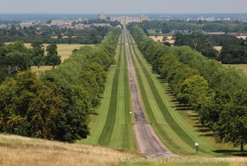 Windsor Castle and The Long Walk, from Snow Hill, Windsor