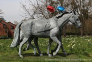 Windsor Greys horse statue, 60th Anniversary of the Queen's Coronation, Windsor