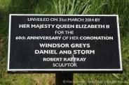 Windsor Greys horse statue information plaque, Windsor