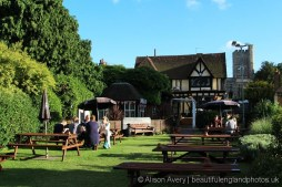 Garden, The Leather Bottle, Cobham