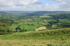 Castleton and Hope Valley, from The Great Ridge, Peak District