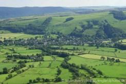 Castleton, from The Great Ridge, Peak District
