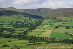 Edale, Grindslow Knoll and The High Peak, from The Great Ridge, Peak District