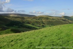 The Great Ridge and The High Peak beyond, from Winnats Head Farm, Castleton, High Peak