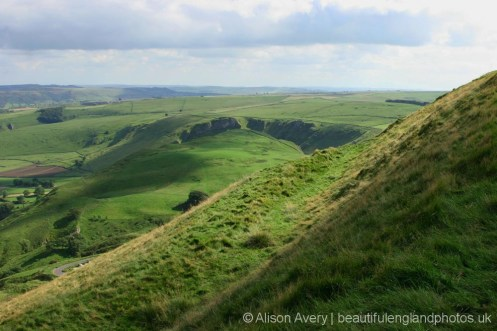 Winnats Pass, from Mam Tor, Peak District
